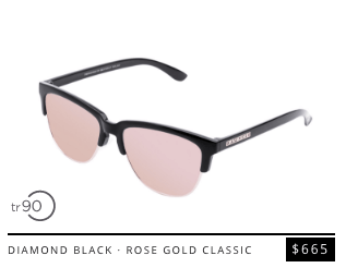 diamond black rose gold classic